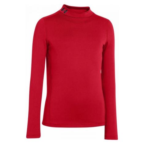 Under Armour CG EVO FITTED LS MOCK rot - Jungen T-Shirt