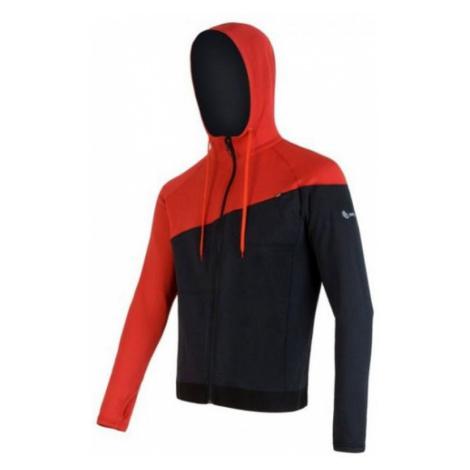 Herren Sweatshirt Sensor Tecnostretch black red 16200130