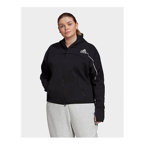 Adidas Z.N.E. Hoodie - Große Größen - Black - Damen, Black