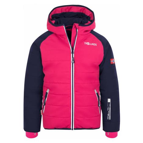 Trollkids Hafjell Snow Jacket Pro Ski- und Winterjacke dunkelblau-pink