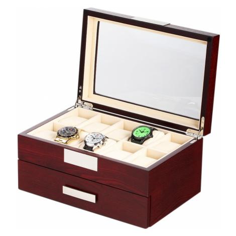 Rothenschild Uhrenbox RS-2350-20C für 20 Uhren cherry