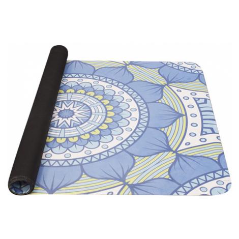 Unterlage  Yoga YATE Yoga Mat natural gummi / muster B / blau-grün