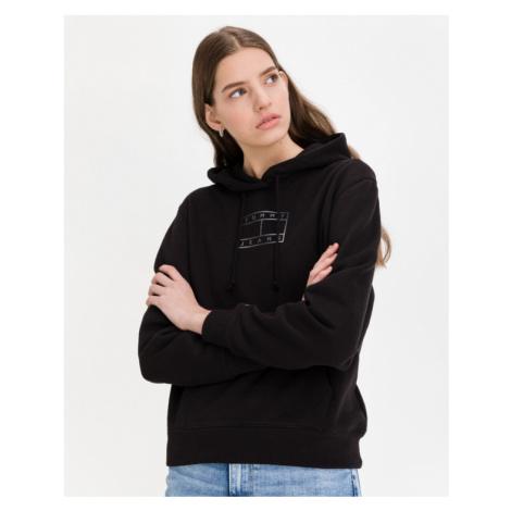 Tommy Jeans Outline Sweatshirt Schwarz Tommy Hilfiger