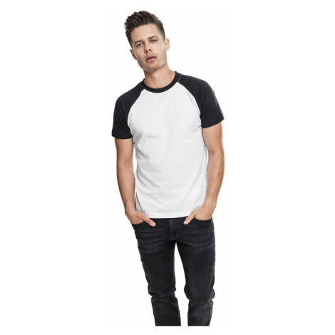 Urban Classics T-Shirt Herren REGLAN CONTRAST TEE TB639 Weiss Schwarz Wht/Blk