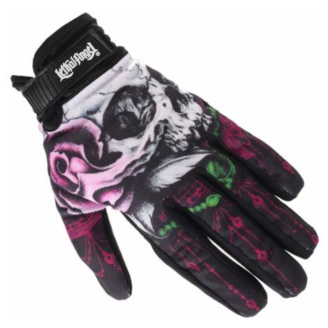 Handschuhe LETHAL THREAT - FLORAL SKULL - GL15006
