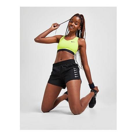Nike Nike Swoosh Run Running Shorts Damen - Black/White - Damen, Black/White