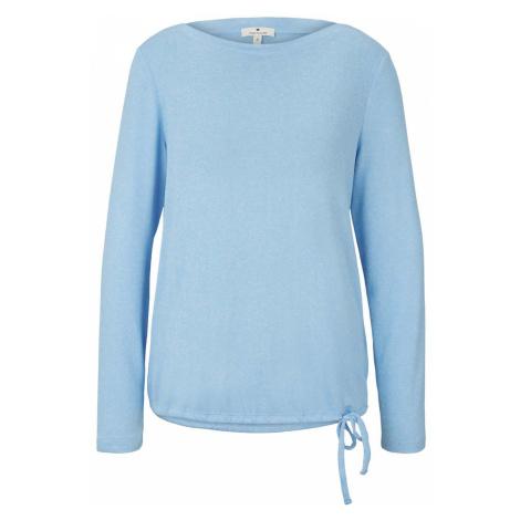 TOM TAILOR Damen Gestreiftes Langarmshirt, blau