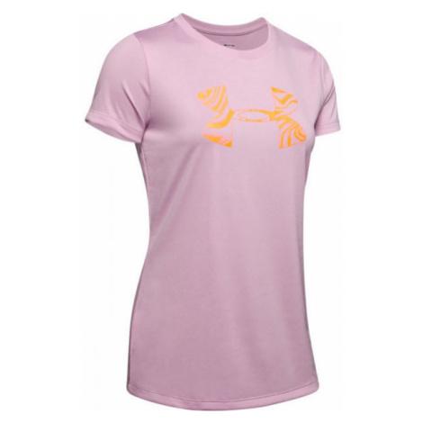 Under Armour TECH SSC GRAPHIC rosa - Damen Shirt