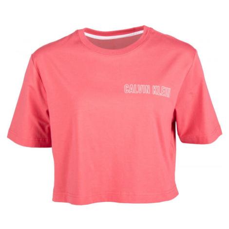 Calvin Klein CROPPED SHORT SLEEVE T-SHIRT rosa - Damenshirt