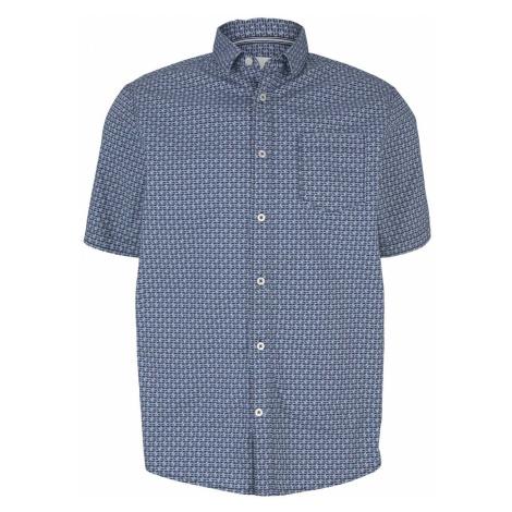 TOM TAILOR Herren gemustertes Hemd, blau
