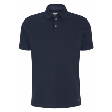 TOM TAILOR Herren strukturiertes Poloshirt mit Bio-Baumwolle, blau