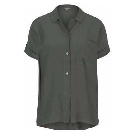 TOM TAILOR MINE TO FIVE Damen kurzärmlige Hemdbluse, grün