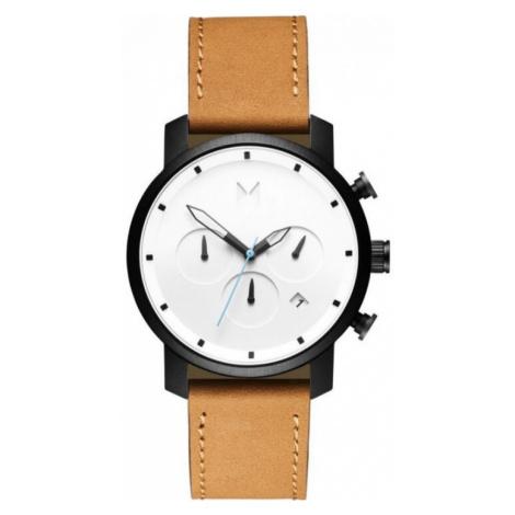 MVMT Uhr Chrono gelb schwarz Lederband 40 mm