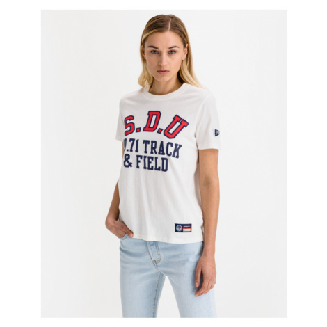 SuperDry Cellgiate Athletic Union T-Shirt Weiß
