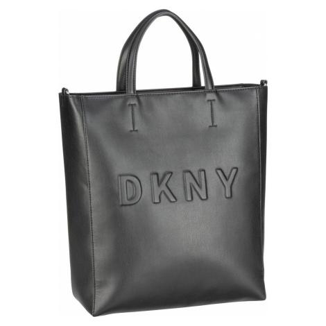 DKNY Handtasche Tilly Nappa N/S Tote Black/Silver (11.9 Liter)
