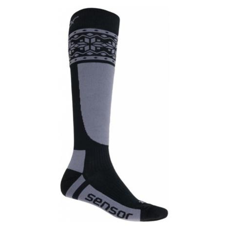 Socken Sensor THERMOSNOW NORWEGEN schwarz/grau 17200088