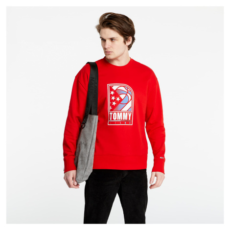 Tommy Jeans Basketball Crew Red Tommy Hilfiger