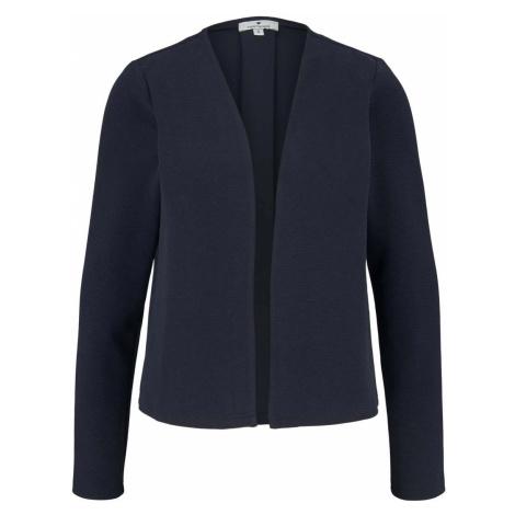 TOM TAILOR Damen Sweat Cardigan mit Struktur, blau