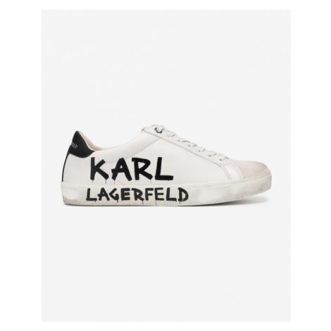 Karl Lagerfeld Skool Brush Logo Tennisschuhe Weiß