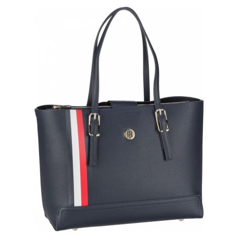 Tommy Hilfiger Handtasche Honey Med Tote Corp SP21 Blue/Corporate (12.9 Liter)