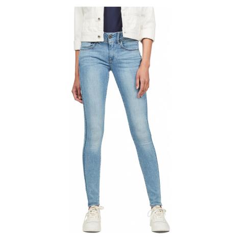 G-Star Damen Jeans Lynn Mid Waist Superskinny Fit - Blau - Sun Faded Blue G-Star Raw