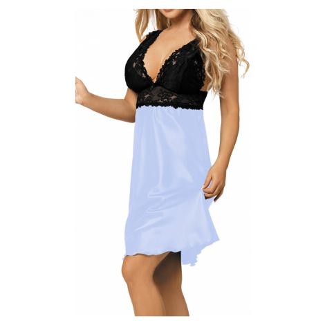 Luxuriöse Nachthemden für Damen Cleo light blue