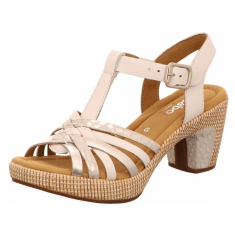 Damen Gabor Klassische Sandalen weiss St.Tropez