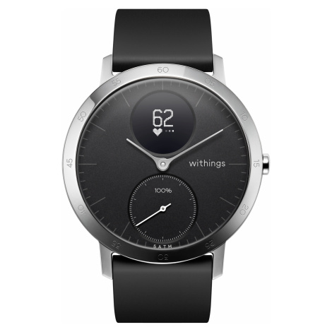 Withings Steel HR, 40mm, Schwarz - Hybrid Smartwatch - Herzfrequenzmessung, Smart Notifications