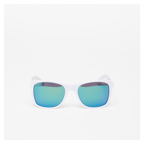 Horsefeathers Foster Sunglasses Gloss White/Mirror Green