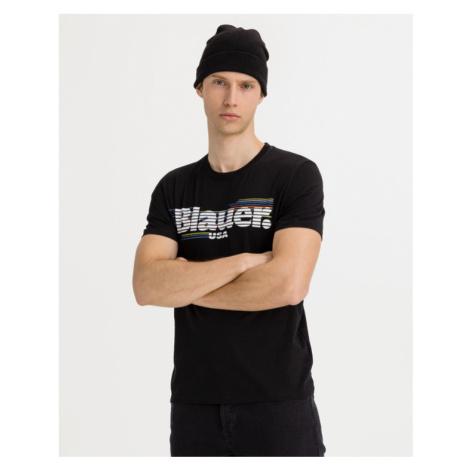 Blauer T-Shirt Schwarz