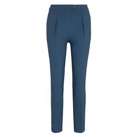 TOM TAILOR MINE TO FIVE Damen Bundfaltenhose aus Jersey, blau