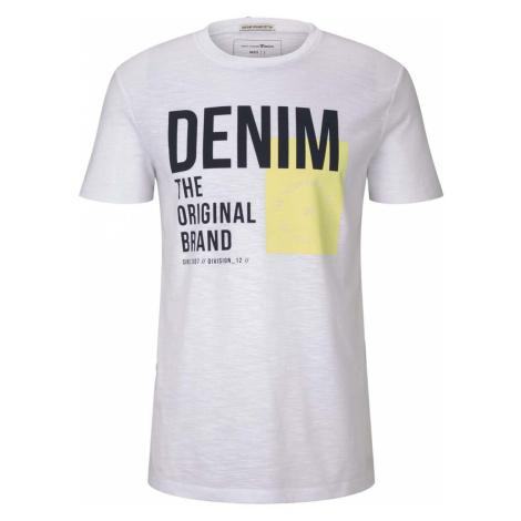 TOM TAILOR DENIM Herren T-Shirt mit Print, weiß