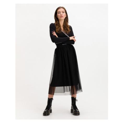 Calvin Klein Logo Skirt Schwarz
