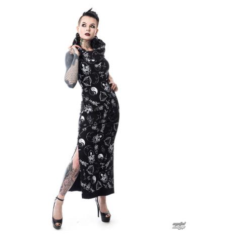 Damen Kleid HEARTLESS - BLACK MAGIC PENTAGRAM - SCHWARZ - POI159 L