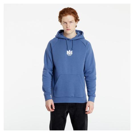adidas Loungewear Adicolor 3D Trefoil Graphic Hoodie Crew Blue