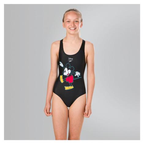 Speedo Disney Micky Maus Badeanzug, Schwarz/Rot/Gelb/Weiß