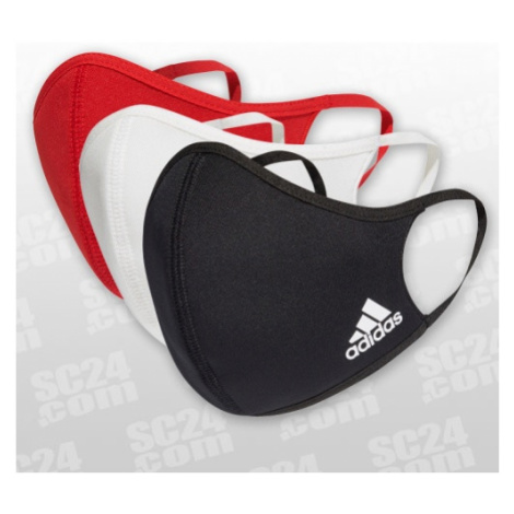 Adidas Face Cover schwarz/rot Größe M/L