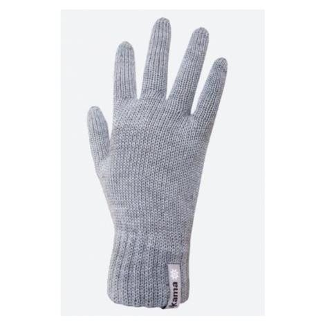 Gestrickte Merino Handschuhe Kama R101 109 light grey