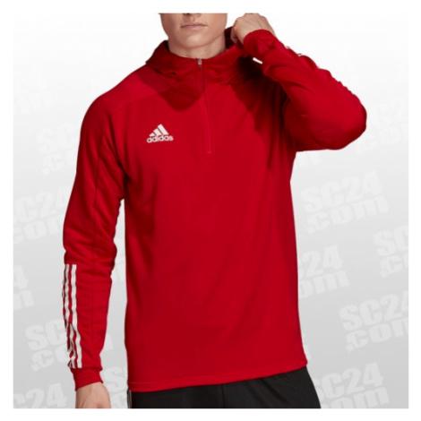 Adidas Condivo 20 Track Hood rot/weiss Größe XS