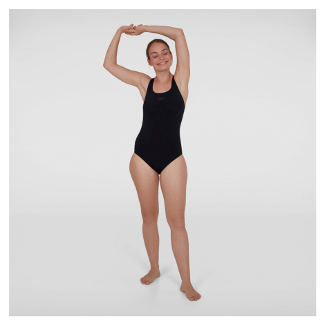 Speedo Essential Endurance+ Medalist Swimsuit, Schwarz