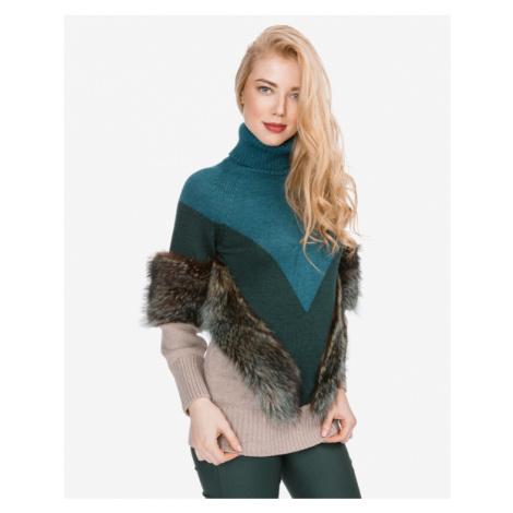 Versace Collection Pullover Blau Braun