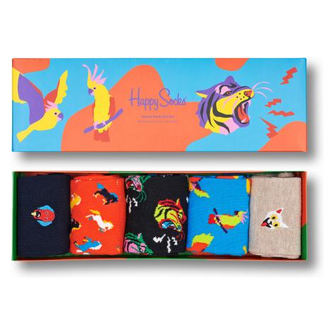 Happy Socks Geschenkbox ANIMAL SOCKS GIFT SET 5-PACK XANI44-0200 Mehrfarbig