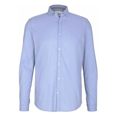 TOM TAILOR Herren Slim Fit Hemd mit Struktur, blau