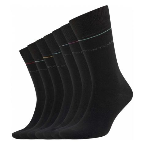 TOM TAILOR Herren Socken in einer 7-Tage-Box, schwarz