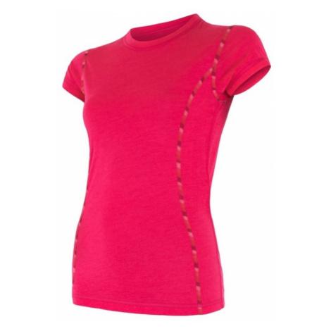 Damen T-Shirt Sensor MERINO AIR magenta 17200011