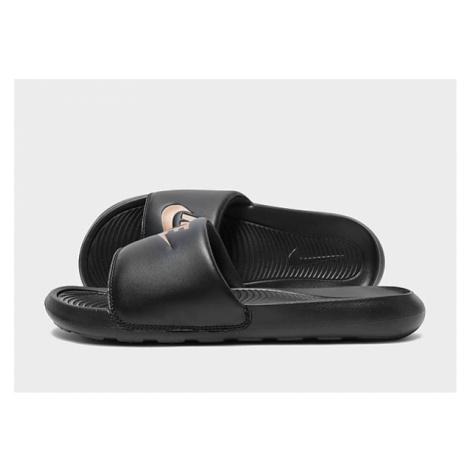 Nike Victori One Damen-Slides - Black/Black/Metallic Red Bronze - Damen, Black/Black/Metallic Re