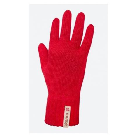 Gestrickte Merino Handschuhe Kama R101 104 red