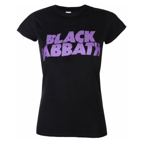 Metal T-Shirt Frauen Black Sabbath - Wavy Logo - ROCK OFF - BSTSP04LB