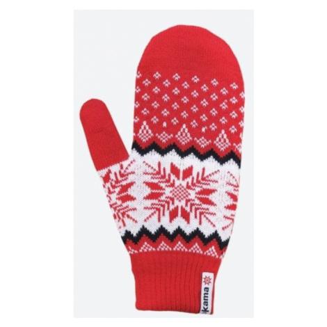 Gestrickte Merino Handschuhe Kama R109 104