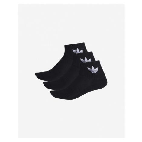 adidas Originals Mid-Cut Crew 3 Paar Socken Schwarz